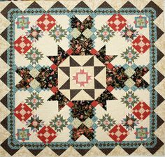 Secrets & Shadows block of the month at Common Threads Quilting in Waxahachie, TX.