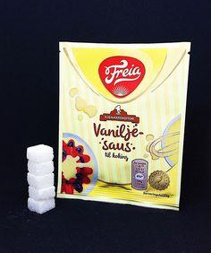 Hver Vanilje Saus pose inneholder 99 gram sukker. Dette tilsvarer 5 sukkerbiter. . Sukkeret av dette produktet: hvitt sukker . Les mer om sukker etiketter sukkerindustri markedsføring eller sukkeravhengiget på www.utensukker.org Instagram