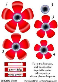 Flower Shaped Stacker Poppy Red on Craftsuprint designed by Kirsty Green - This is a fun flower shape stacker. It is easy to make