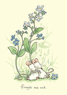 M224 FORGET ME NOT a Greeting Card by www.TwoBadMice.com