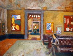A Room at the Second Post-Impressionist Exhibition, Matisse Room, by Vanessa Bell, Leonard's sister-in-law, 1912