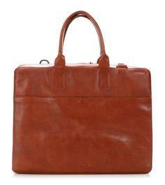 Gemin 16'' Briefcase with laptop compartment Leather cognac 41 cm