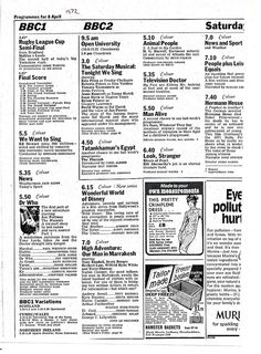 Doctor Who In The Radio Times 1972-04-08 by combomphotos,From the archives of the Timelords and Whovians