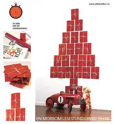 Julekalender- en lesestund i hver pakke. Koselig for både små og store