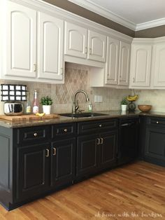 Kitchen Makeover One Room Challenge Reveal of painted cabinets