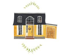 Rebekka Seale - this is a wonderful artist that does customized paintings of people's homes.
