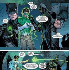 Justice League New 52 Issue 1 Batman and Green Lantern; I love batman lol Humor Batman, Im Batman, Funny Batman, Batman Arkham, Arkham Knight, Batman Robin, Batgirl, Nightwing, Marvel Dc Comics