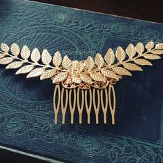 Large Gold Leaf Hair Comb Big Gold Leaf Wedding Hair Comb Romantic Hair Slide Rustic Wedding Hair Accessories for Bride