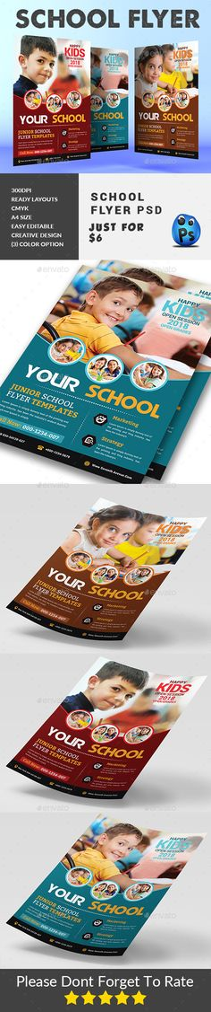 #School #Education #Flyer - #Corporate Flyers Corporate Flyer, Business Flyer, Jellyfish Kids, Ocean Theme Crafts, Ma Baker, Birthday Flyer, Phonics Reading, Learning Goals, Phonics Activities