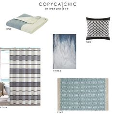 @designerliving #FiveforFifty with @Copycatchic | Shades of summer blue affordable home decor and accents