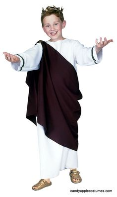 Child's Roman Toga Costume - Candy Apple Costumes - Kids' Costumes Under $30