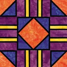 Quilt+Block+Patterns+for+Beginners | Stained Glass Cross Roads Quilt Block Pattern