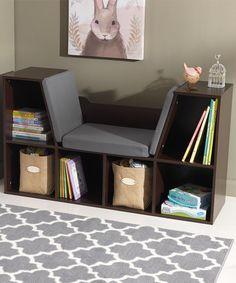 Espresso Bookcase & Reading Nook #zulilyfinds