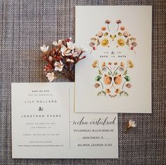 Post card save-the-date cards  Calligraphy by Anne Robin