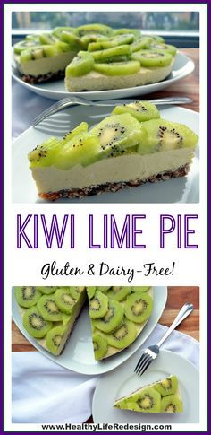 This gluten & dairy-free Kiwi Lime Pie is a decadent frozen dessert! Enjoy…