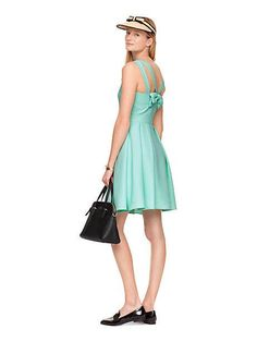 Kate Spade Bow Back Mint Dress