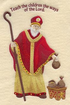 inspiration each year a letter from St. Nicholas comes, with many, many praises for all the wonderful attributes of each child, and then how the letter ends with a 'however.' And in that however, St Nicholas lets the child know what change can be worked on for the next year—the child's gift back to St. Nicholas.