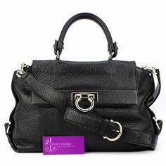 S.Ferragamo Sofia Good Condition  Ref.code-(BVLCE-1) More Information Pls Email  (- luxuryvintagekl@ gmail.com )