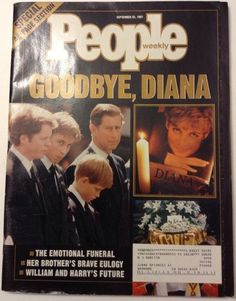 People magazine covers: Diana and her boys Princess Diana Funeral, Princess Diana Family, Royal Princess, Princess Of Wales, Prince William And Harry, Prince Charles, Prince Phillip, Princesa Diana, Prinz William
