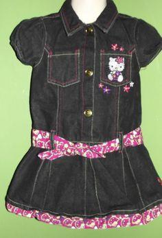 4T Hello Kitty Denim Dress New