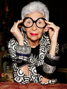 Iris Apfel. My inspiration.