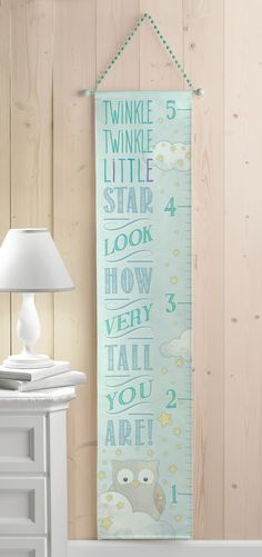 Grasslands Road Blue 'Twinkle Twinkle' Growth Chart