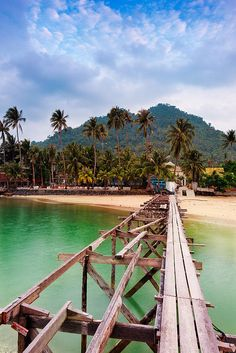 rickety old bridge leads to Lamai beach along Koh Samui, an island off the east coast of Thailand.  Photo: Jon and Tina Reid via Flickr