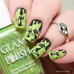 46 Best Halloween Themed Cat Nail Art Designs Images On Pinterest In
