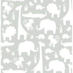 "Found it at Wayfair - Its a Jungle in Here Peel and Stick 18' x 20.5"" Wildlife…"