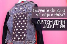 Chaqueta de jeans de viejo a nuevo! /  CUSTOM DIY