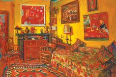 An exhibition of paintings and photographs about Margaret Olley's house. Australian Painters, Australian Artists, Yellow Interior, Art Google, Decoration, Van Gogh, Home Art, My Arts, Gallery