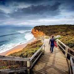 """Got a chance to surf #BellsBeach this morning it was only 2 foot but it's a magic place to ride waves! Those yellow sandstone cliffs and the clean blue water it's a real treat! As the @wsl commentators repeatedly say """"it's a natural amphitheatre"""" #STimages2016roadtrip #NotThe50YearStorm #Victoria #SurfCoast Good to get a saltwater rinse in before heading to the River Murray tomorrow pic  @daily_life_of_stimages ( @sherrinwoods ) check the lineup shot over at @daily_life_of_stimages by…"""