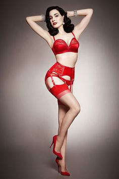 Her Sexcellency. Beautiful vintage pin-up style lingerie by Dita Von Teese.