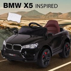 NEW-ROVO-KIDS-Ride-On-Car-BMW-X5-Inspired-Electric-Toy-Battery-Remote-12V-Black