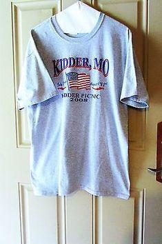 2008 Kidder Missouri Picnic American Tee Shirt Size Large