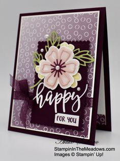 Horse Cards, Stamping Up Cards, Paper Cards, Flower Cards, Greeting Cards Handmade, Scrapbook Cards, Homemade Cards, Making Ideas, Cards