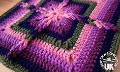Ravelry: Ladder-Loops Block pattern by Kimberlie Goodnough Crochet Square Blanket, Crochet Blocks, Crochet Squares, Crochet Granny, Crochet Stitches, Crochet Patterns, Granny Squares, Crochet Crafts, Crochet Projects