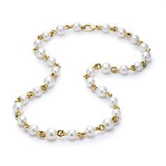 LINK NECKLACE MJN-1001 - Pearl Necklaces | Mastoloni Pearls