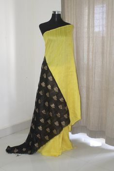 Dupion pure raw silk saree with gold print