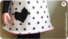 Variation autour de la robe chasuble Poppy de Lou and Me - Version Doudou!