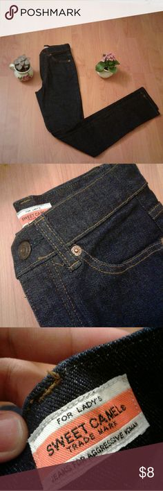Sweet Camel Jeans Blue sweet camel jeans. 55 cm ~ 21in waist. 83cm height? Sweet Camel Jeans Skinny