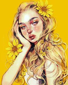 21 Must Known 2019 Tips and Idea for Art Painting - Digital Art Girl, Digital Portrait, Portrait Art, Cartoon Kunst, Cartoon Art, Pretty Art, Cute Art, Art Mignon, Ipad Art
