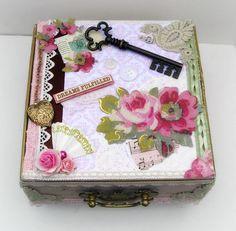 Vintage Cigar Box Altered Art Box by BlushingPeach on Etsy, $45.00