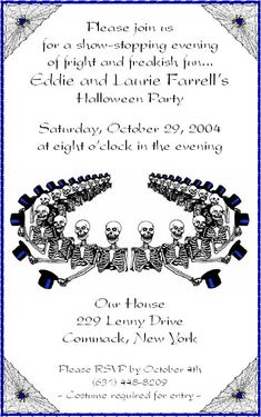 Halloween invitation wording for friends 2016 Happy Halloween