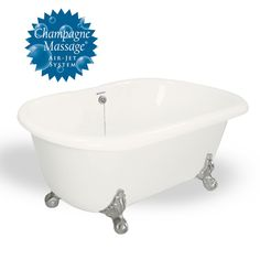 Melinda AcraStone Clawfoot Tub smooth to the touch inside and out. Perfected the Double Ended bathtub in a classic clawfoot style. AcraStone material is extremely durable and backed by a limited lifetime warranty. This double ended Melinda Clawfoot Tub Metal Finishes, Out Of Style, Clawfoot Bathtub, Faucet, All In One, Champagne, Classic, Tubs, American