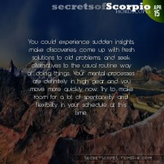 Scorpio Horoscope. Want horoscopes for all signs?  Visit iFate.com Astrology today!