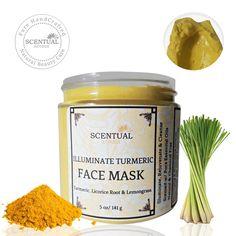 Shop Now, organic handmade turmeric face mask with Turmeric, Kaolin, Licorice Root Extract & Lemongrass