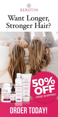 """""""I will never need to buy anything else because this has improved the quality of my hair and has helped it grow thicker and faster than ever. No more breakage and my hair is growing like crazy. I also have baby hair growing from my scalp! I ordered 6 bottles. So for me it's a great value in more ways than one!"""" - Kristin Ghetti, Kerotin Hair Care Customer"""