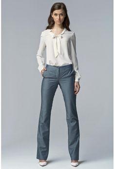 31be9a44ed4b7 Jeansowe Eleganckie Spodnie Damskie Bootcut Strój, Elegancki Strój, Wzrost  Człowieka, Barwa