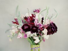 Photograph by Marta Locklear. Blush and wine colored florals.